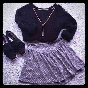Dresses & Skirts - Gray polka dot skirt